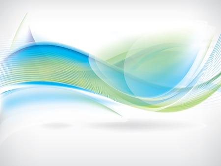 Vecteur abstrait avec des vagues et des lignes