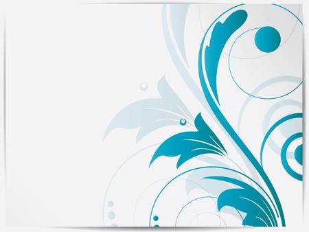 Fondo floral abstracto para el diseño con remolinos Foto de archivo - 23169722