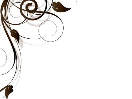 Sier appeltje element met wervelingen Stock Illustratie