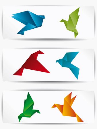 Origami japan papier vliegende vogel