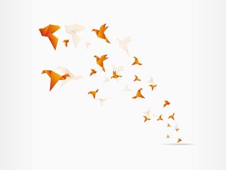 Origami Japanpapier fliegende Vogel Standard-Bild - 23206943