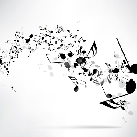 music symbols: abstract musical background with notes