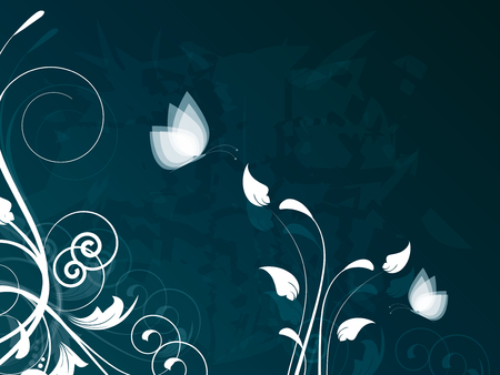 Card with ornamental background with floral elements Vector