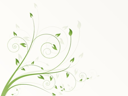 Abstract floral background with flowers Illustration