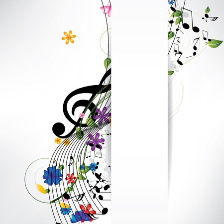 clave de sol: fondo musical abstracto con notas