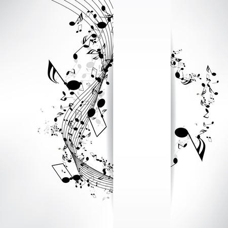 Abstrakten musikalischen Hintergrund mit Noten Standard-Bild - 23341649