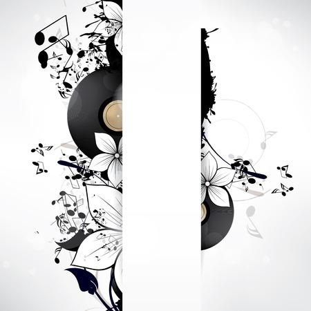 Abstrakten musikalischen Hintergrund mit Noten Standard-Bild - 23341658