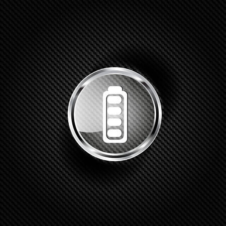 Full battery web icon Vector