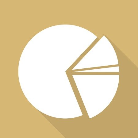 circular diagram web icon Vector