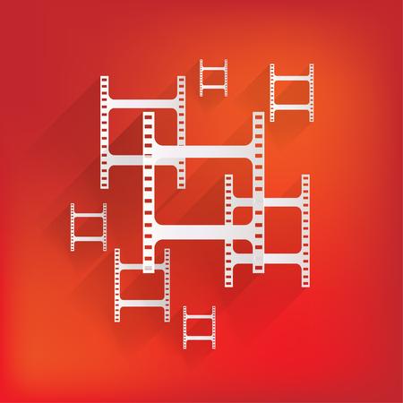 Film web icon Stock Vector - 24372796