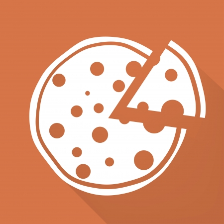 Pizza web icon Vector