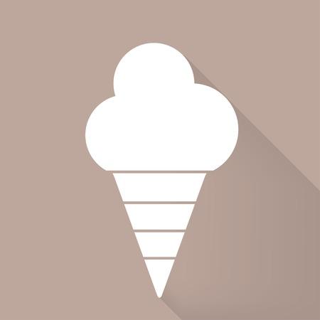 souffle: Ice cream web icon Illustration