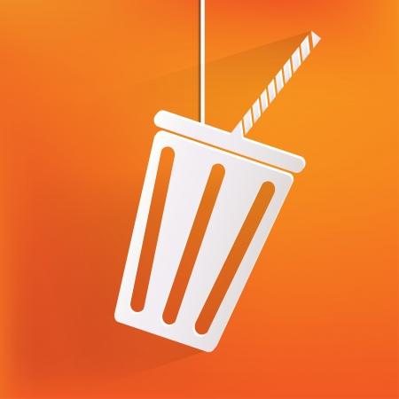 facer: Cold drink web icon Illustration