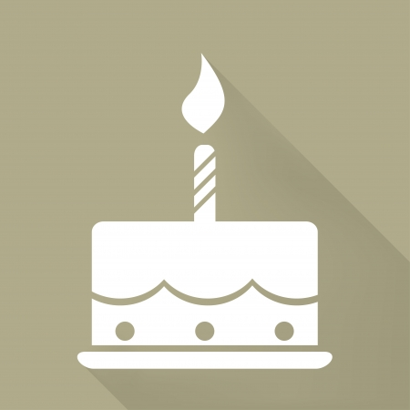piece of cake: Birthday cake web icon