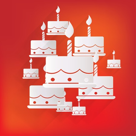 velitas de cumpleaños: Icono del Web Torta de cumpleaños