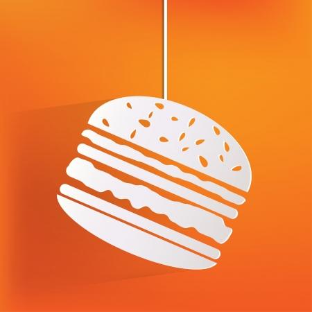 ハンバーガーの web アイコン  イラスト・ベクター素材