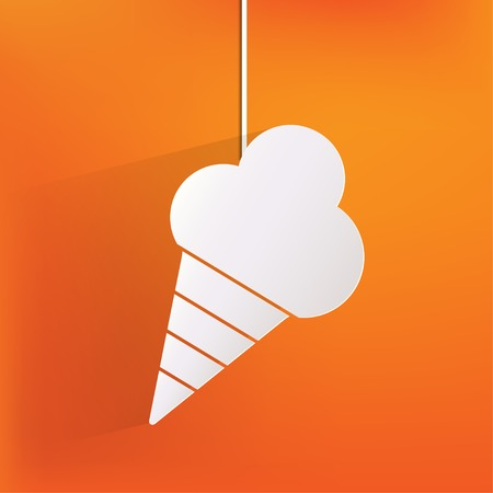 Ice cream web icon Vector