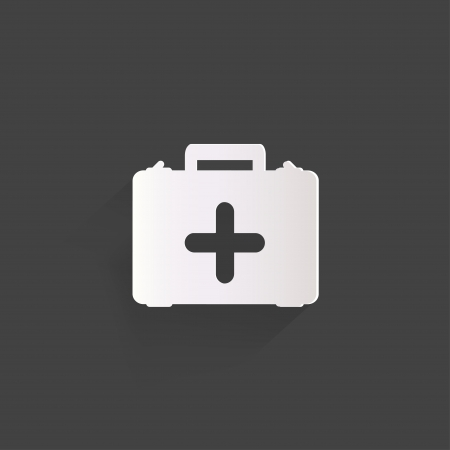first aid box: first aid kit icon