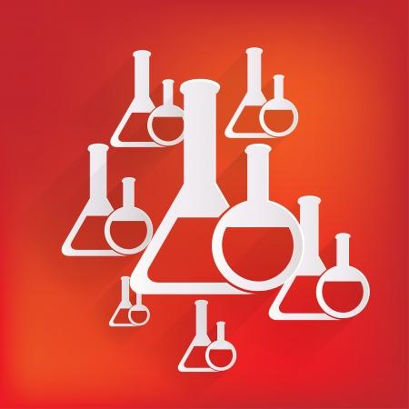 flack: Medical flack, chemical eequipment web icon