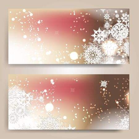 spangle: Elegant Christmas background with snowflakes Illustration