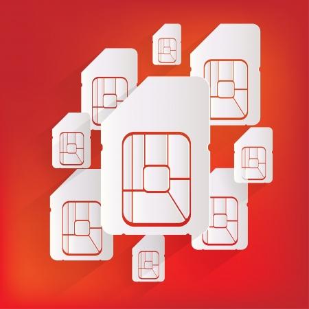 sim card: Sim card web icon Illustration