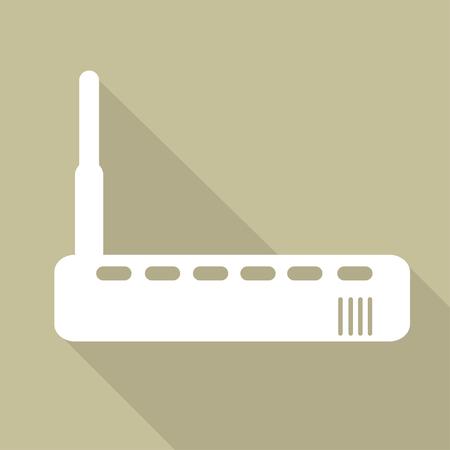 Wi fi router web icon Illustration