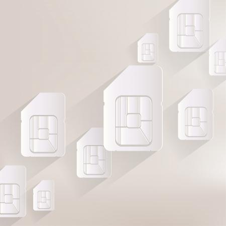 Sim card web icon Illustration