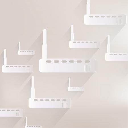 dsl: Wi web icona fi router Vettoriali
