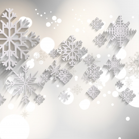 spangles: Abstract christmas background with snowflakes Illustration