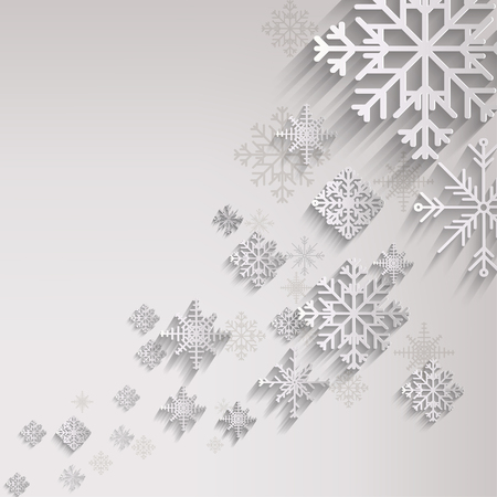 season greetings: Abstract christmas background with snowflakes Illustration