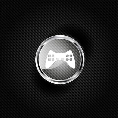 videogame: joystick web icon Illustration