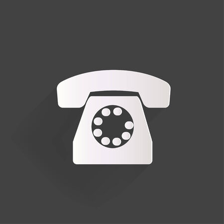 Retro telephone web icon Vector