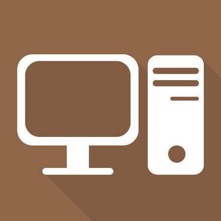 Computer web icon Stock Vector - 24378449