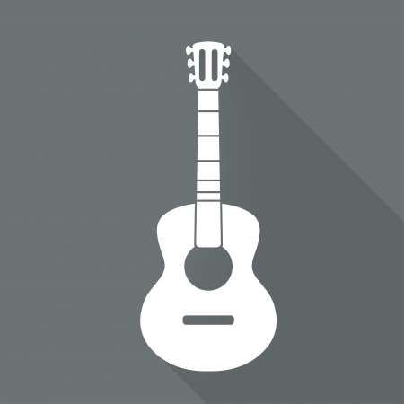 Guitar icon. Music backgrond Illustration