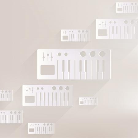 synthesizer: digital piano synthesizer icon