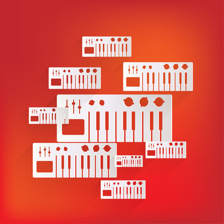 synthesizer: digital piano synthesizer icon
