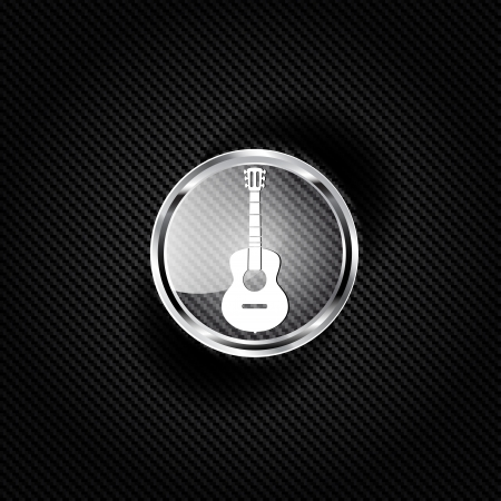 Guitar icon. Music backgrond Vector