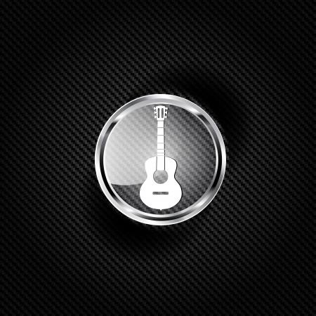 strat: Guitar icon. Music backgrond Illustration