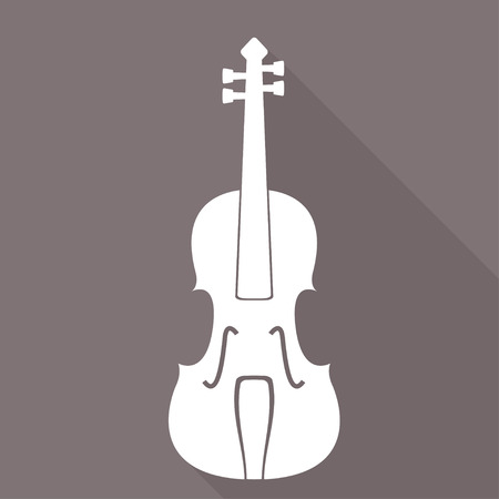 Violin Icon. Music background Vector