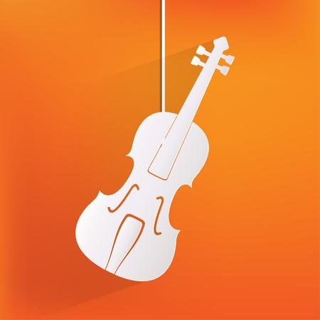 violin background: Violin Icon. Music background