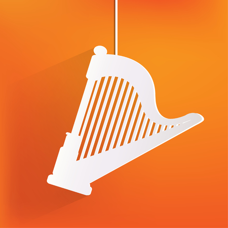 Harp icon. Msic instruments Vector