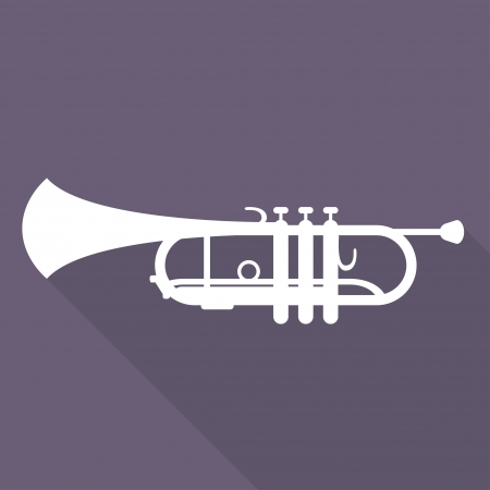 saxhorn: Music wind instruments icon Illustration