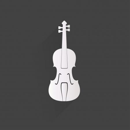 cello: Violin Icon. Music background