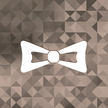 official wear: Bow tie icon.Triangle background.