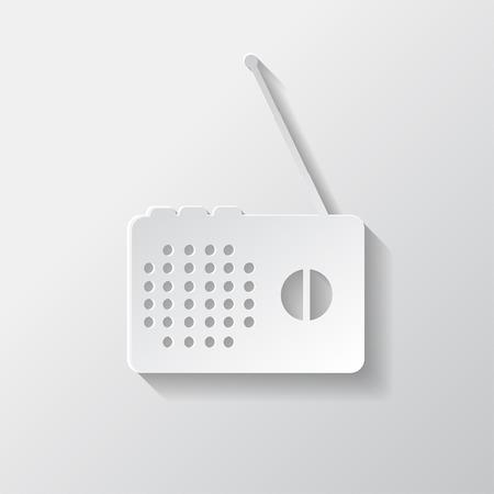 Radio web icon Vector