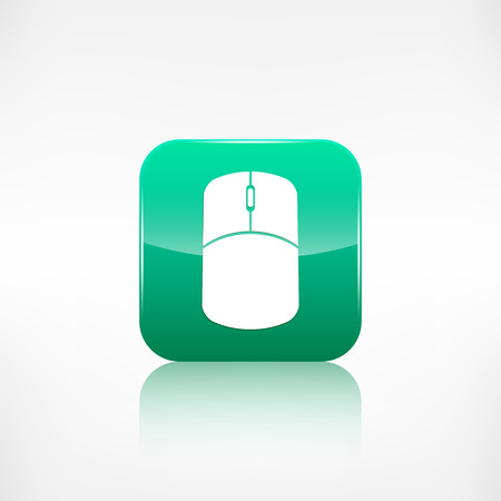 application button: Mouse web icon. Application button. Illustration