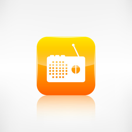 radio beams: Radio web icon. Application button. Illustration