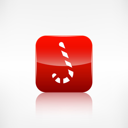 application button: Candy cane web icon. Application button. Illustration