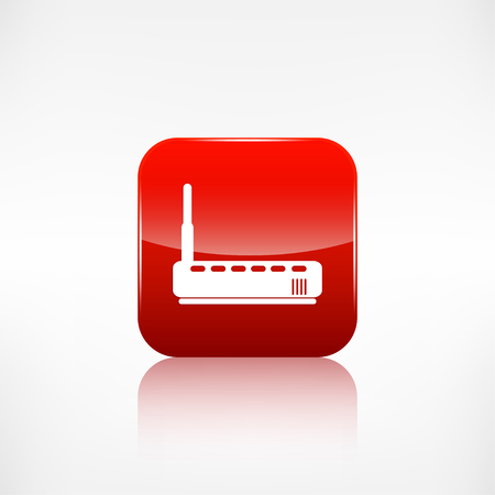 application button: Wifi router web icon. Application button. Illustration