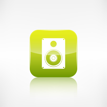 subwoofer: Subwoofer web icon. Application button. Illustration